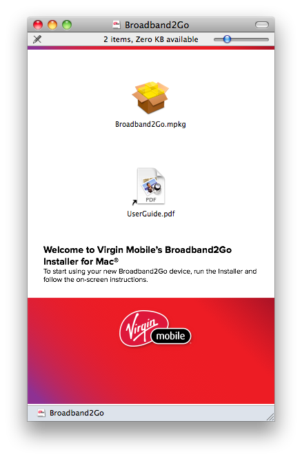 Virgin Mobile Broadband2go Software